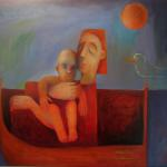 """START OF THE JOURNEY""  oil on canvas    2007  100cm x 70cm sold"